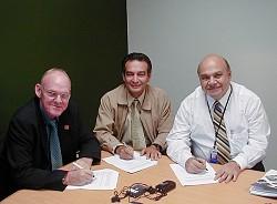 Stig Enemark, Juan Manuel Castro and Olman Vargas - Click picture for bigger format