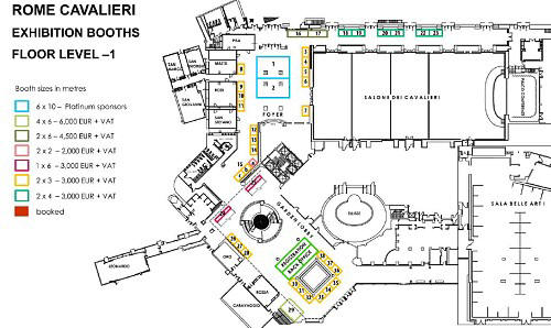 Exhibition Booth Floor Plan : Rome sponsorship