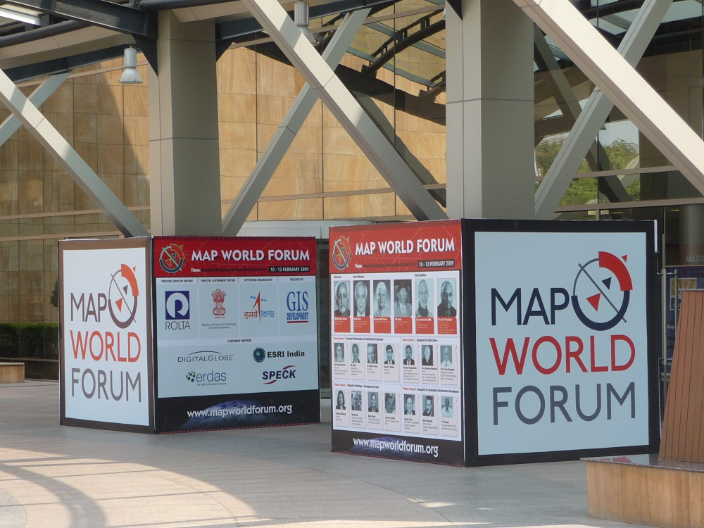 Map world forum hyderabad india 10 12 february 2009 the map world forum conference was held at the international convention centre in hyderabad india gumiabroncs Images