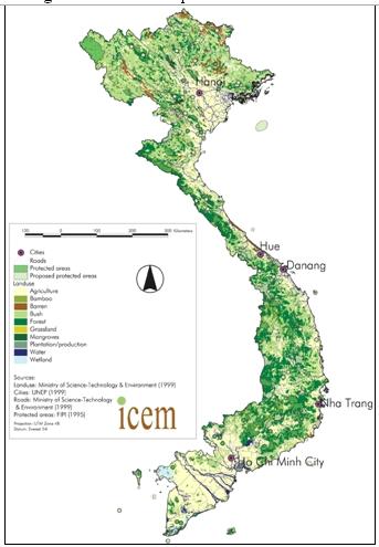 Land Use Map Of Vietnam