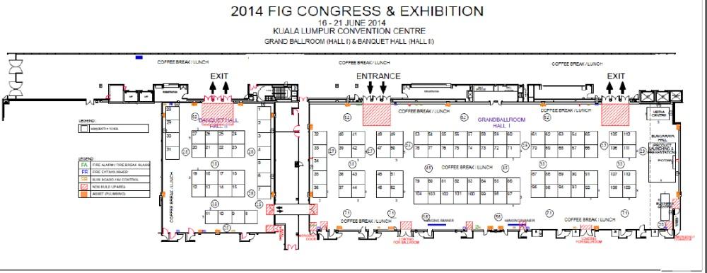 Exhibition Booth Plan : Malaysia exhibition