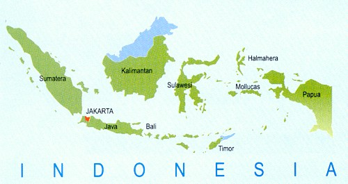Indonesia City Map Map of Indonesia